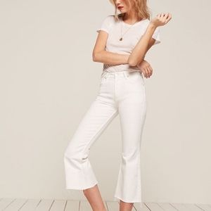 NWOT Reformation | Cropped Kick Flare Jeans